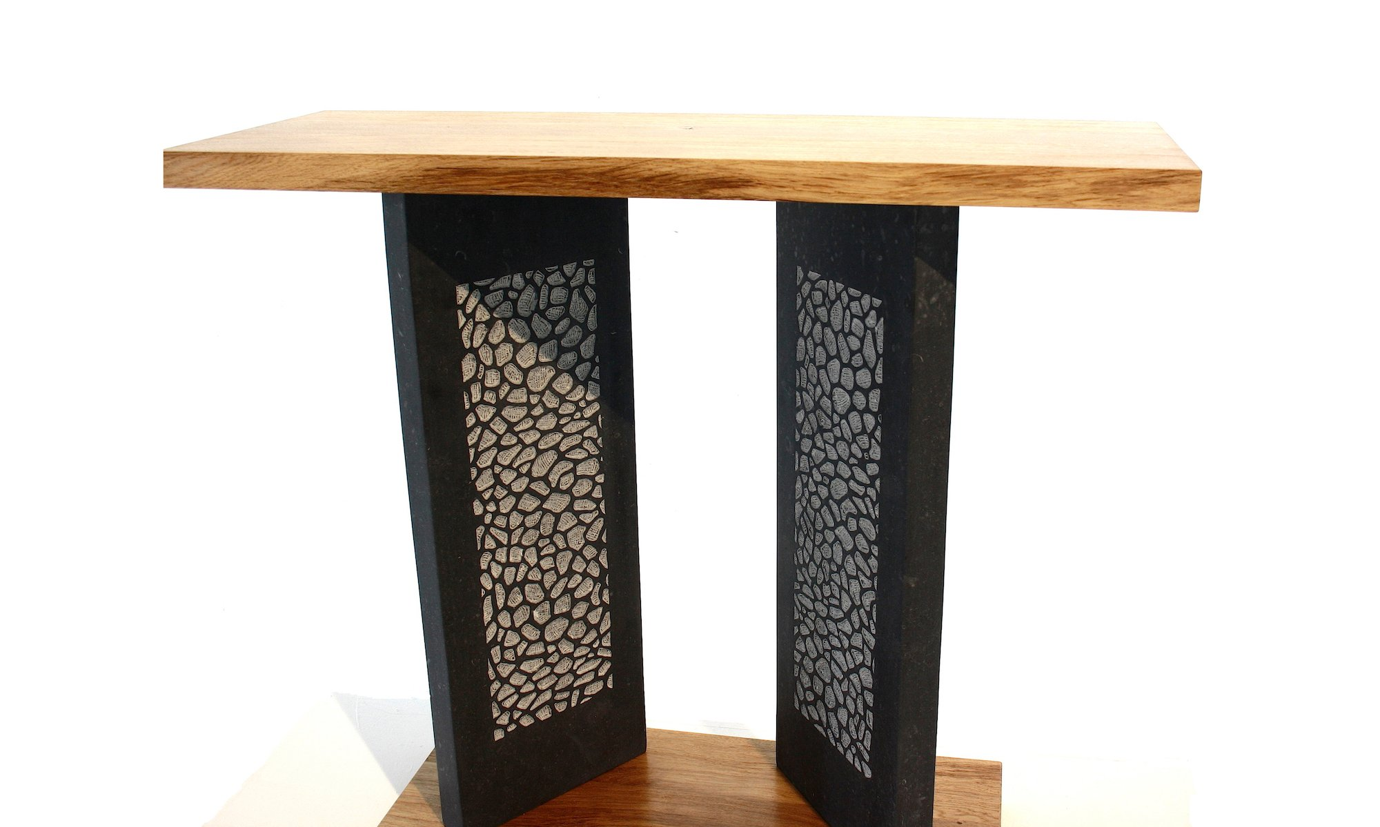 Wood and Stone Console table