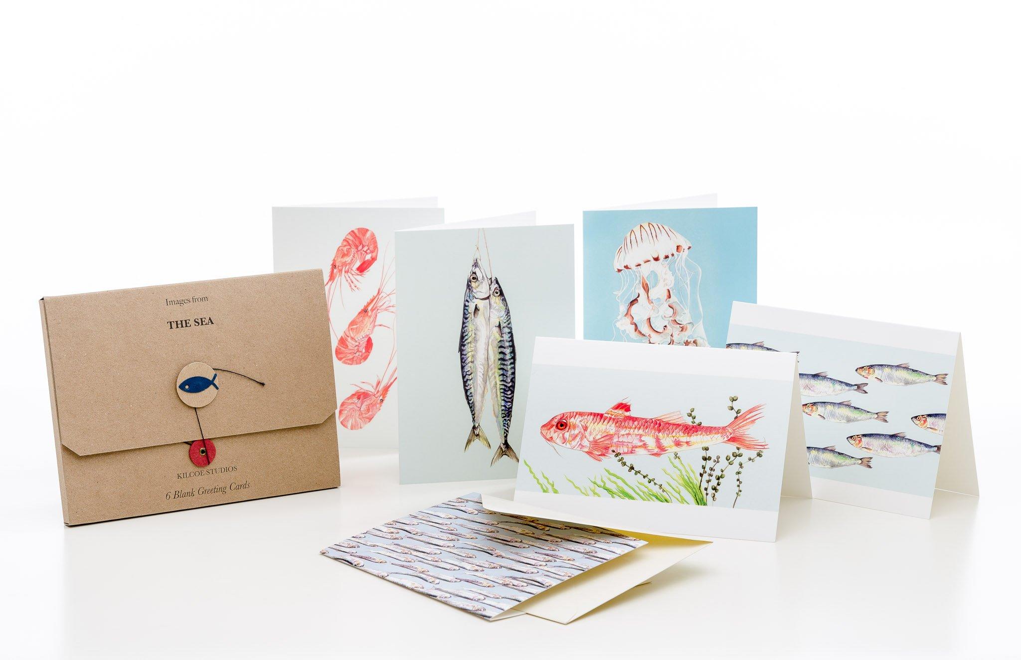 6 Pack Greeting Cards The Sea Kilcoe Studios