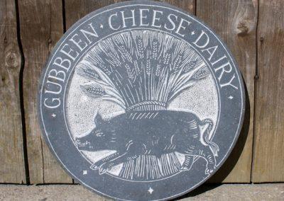 Gubbeeen Dairy Sign . Limestone